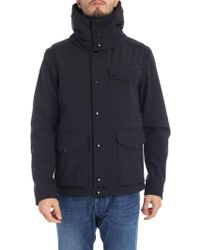 C P Company - Blue Jacket With Built-in Glasses - Lyst