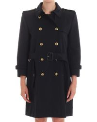 Givenchy - Dark Blue Trench Coat - Lyst
