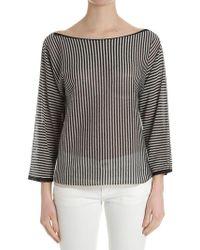 Twin Set - Black And Ocher Striped Sweater - Lyst