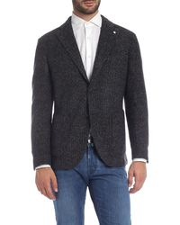 L.B.M. 1911 Houndstooth Jacket In Blue