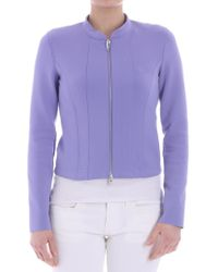 Harris Wharf London - Lilac Neoprene Jacket - Lyst