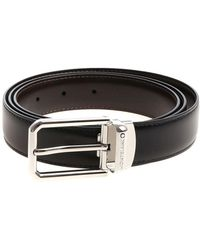 Montblanc - Reversible Black And Brown Belt - Lyst