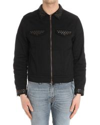 Moschino - Black Jacket With Applied Buttons - Lyst