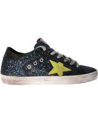 "Golden Goose Deluxe Brand - ""superstar"" Multicolor Glittered Sneakers - Lyst"