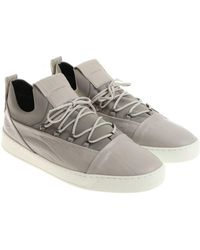 Alexander Smith - Ice Colored Leather And Neoprene Sneakers - Lyst