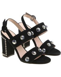 Alberto Gozzi - Black Sandals With Studs - Lyst
