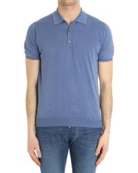 Della Ciana - Blue Cotton Polo - Lyst