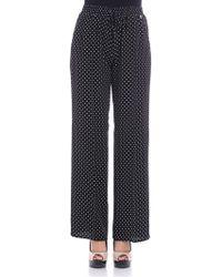 Twin Set - Black Polka-dots Trousers - Lyst