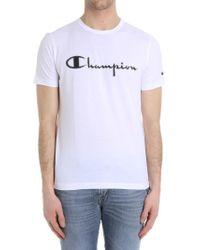 Paolo Pecora - White T-shirt (champion Collaboration) - Lyst