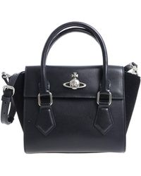 Vivienne Westwood - Black Shoulder Bag With Logo - Lyst