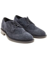 Tod's - Derby Brogue Shoes - Lyst