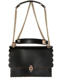 3a0d3347e542 Lyst - Fendi Kan I Small Shoulder Bag in Black