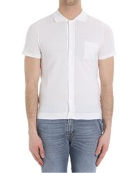 Paolo Pecora - White Polo-shirt With Short Sleeves - Lyst