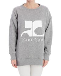 Courreges - Cotton Sweatshirt - Lyst