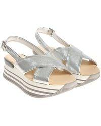 Hogan - Silver H294 Sandals - Lyst