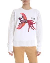 b8e8c248774 KENZO - Flying Phoenix Pullover In White - Lyst