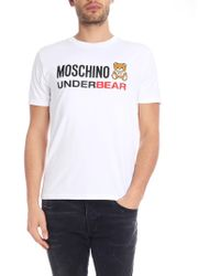 23e91ea9 Moschino - Teddy Bear T-shirt In White - Lyst