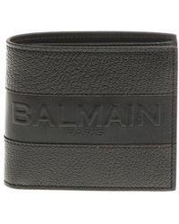 Balmain - Black Wallet With Logo - Lyst