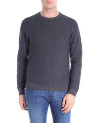 Woolrich - Knitted Dark Grey Pullover - Lyst