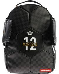 "Sprayground - Black And Grey ""marcelo Soccer King"" Backpack - Lyst"