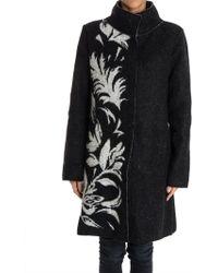 Fuzzi - Wool Blend Coat - Lyst
