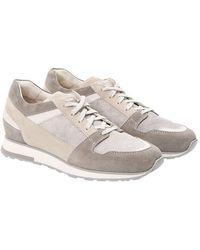 Santoni - Leather Sneakers - Lyst