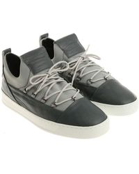 Alexander Smith - Grey Leather And Neoprene Sneakers - Lyst