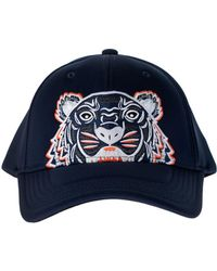 aef850b207c1c7 KENZO - Blue Baseball Cap With Tiger Embroidery - Lyst