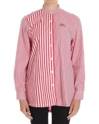 Être Cécile - Red And White Striped Deja Dude Shirt - Lyst