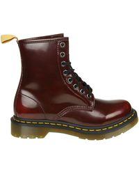 Dr. Martens - Vegan 1460 Cambridge Brush Red Boots - Lyst