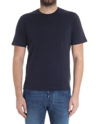Aspesi - Blue T-shirt With Pocket - Lyst