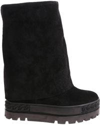 Casadei - Black Reindeer Leather Boots - Lyst