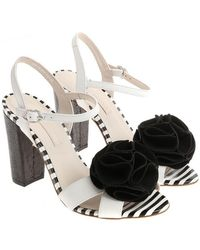 Lulu Guinness - White Celeste Sandals - Lyst