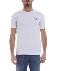 Emporio Armani - T-shirt EA7 bianca - Lyst