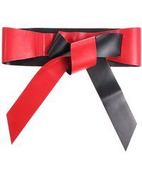 Pinko - Black And Red Umberto Sash - Lyst