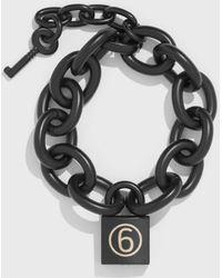 MM6 by Maison Martin Margiela - Chain Padlock Bracelet - Lyst