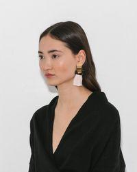 Lizzie Fortunato - Blush Totem Tassel Earrings - Lyst