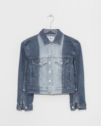 957dae5fa79837 Proenza Schouler Point Collar Denim Jacket in Blue - Lyst