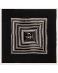 Totême  Black Monogram Venezia Scarf