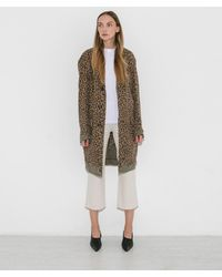 R13 - Tan And Black Leopard Oversized Shredded Coat - Lyst