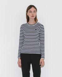 Play Comme des Garçons - Play Striped Long Sleeve Tee - Lyst