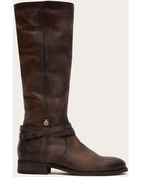 Frye - Melissa Belted Tall Wide Calf - Lyst