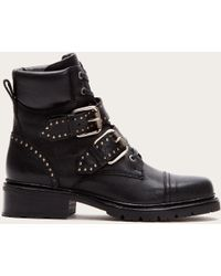 Frye - Samantha Stud Belted Hiker Boots | Frye Since 1863 - Lyst
