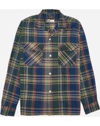 Beams Plus - Open Collar Indian Madras Shirt - Lyst