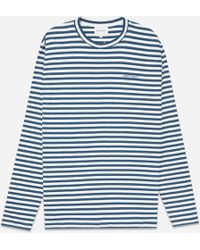 Norse Projects - James Logo Stripe T-shirt - Lyst