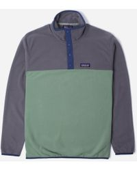 Patagonia - Micro D Snap Pullover Fleece Sweat - Lyst