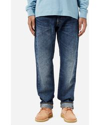 Edwin - Ed-55 Red Listed Selvage Contrast Clean Wash - Lyst