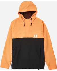 Carhartt Orange For Men Jacket Tone Two Nimbus Wip In Lyst Pullover Ufqd7Cx7