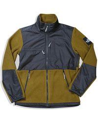 The North Face - Denali Fleece Asphalt Grey Fir Green - Lyst