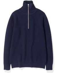 Sweaters - Norse Projects Women Yvonne Wool Dark Navy - Lyst